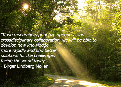 Quote by BL about researchers prioritizing openness and crossdisciplinary collaboration