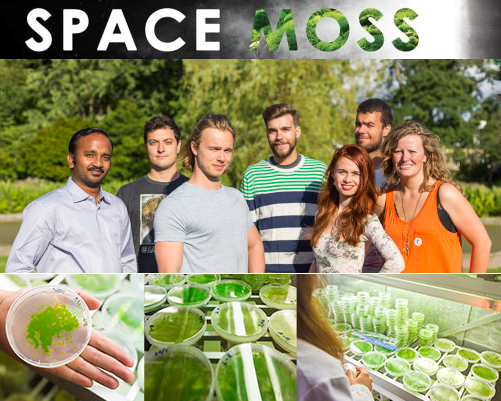 SpaceMoss team in the lab