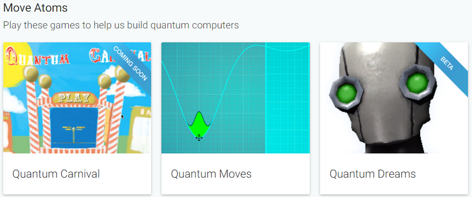 Picture of video game: Quantum Moves