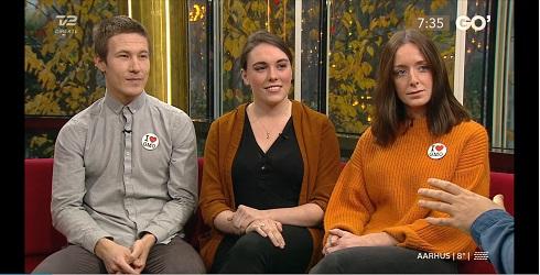Attila, Victoria and Stephanie at TV2 'Go'Morgen Danmark